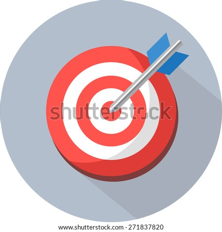 Target Icon - Darts. Vector - stock vector