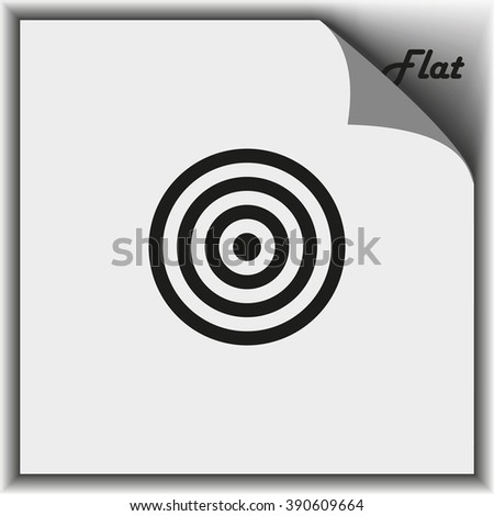 Target icon. Flat illustration. - stock vector