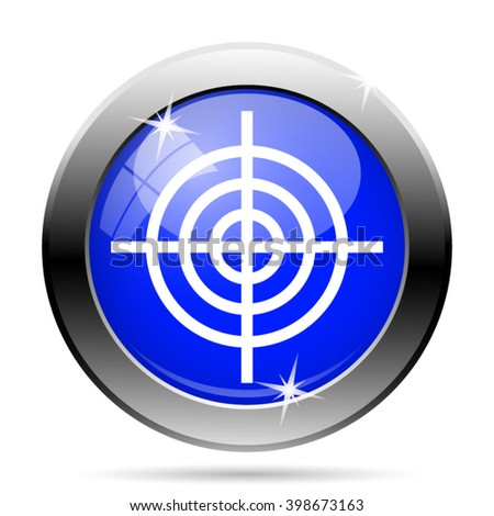 Target icon. Internet button on white background. EPS10 vector