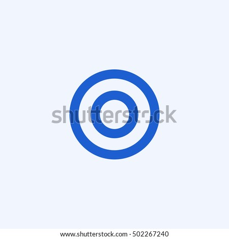 target icon, isolated, white background