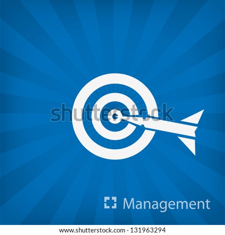 target icon (Management) - stock vector