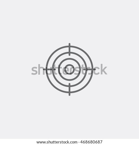 target icon of grey outline for webpage