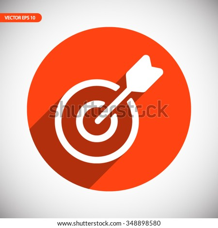 Target icon. One of set web icons - stock vector