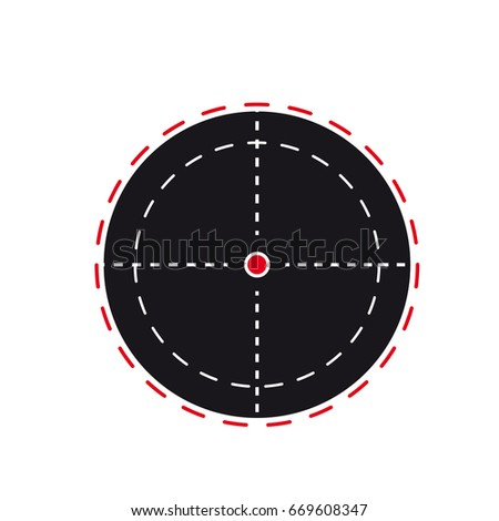 Target icon, symbol of the sniper scope isolated on a white background, the cross and the goal vector illustration.