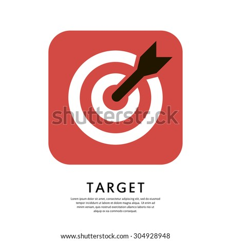 Target Icon, Target icon vector, Target icon JPG, Target icon JPEG, Target icon EPS, Target icon AI.  - stock vector