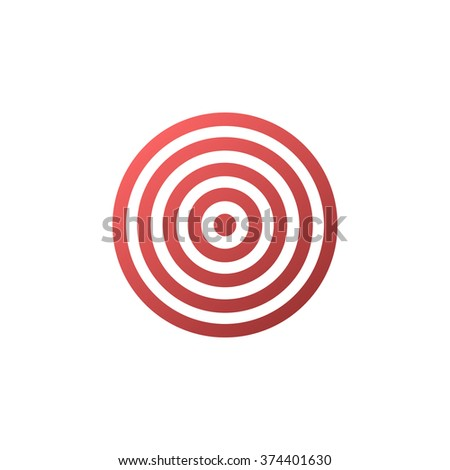 Target icon - vector background. - stock vector