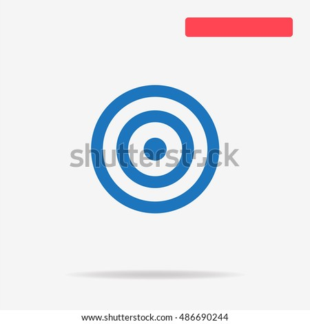 Target icon. Vector concept illustration for design.