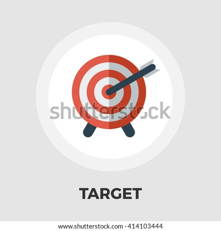 Target icon vector. Flat icon isolated on the white background. Editable EPS file. Vector illustration. - stock vector