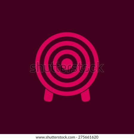 Target icon, vector illustration - stock vector