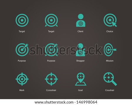 Target icons. Vector illustration. - stock vector