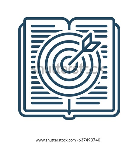 Target Inside Book Vector Icon Meaning Stock Vector 637493740