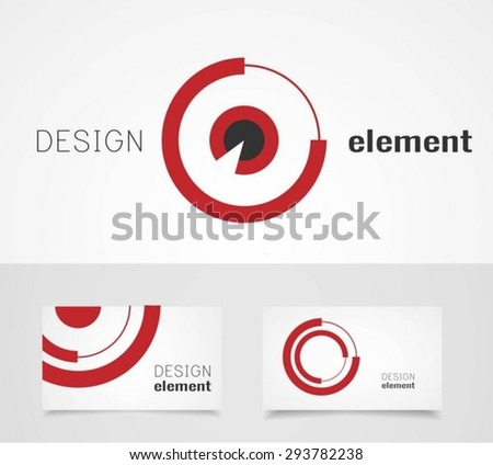 Target Logo Design Template with business card template - stock vector