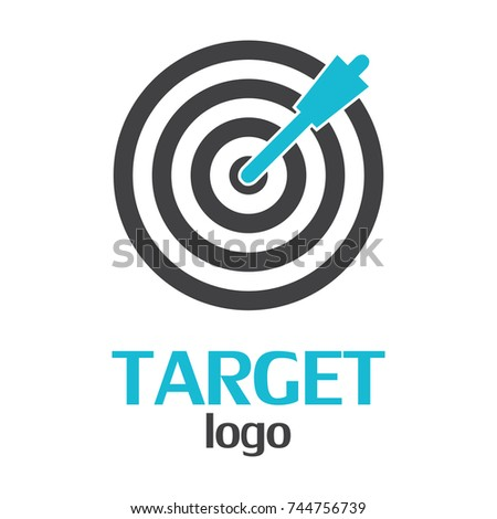 Target Logo Template On White Background Stock Vector 744756739 ...