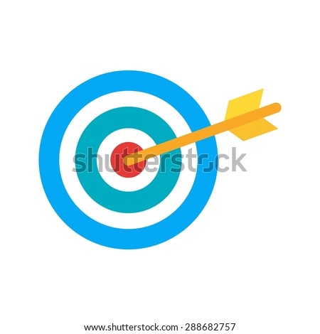 Target, market, aim icon vector image. Can also be used for seo, digital marketing, technology. Suitable for use on web apps, mobile apps and print media.