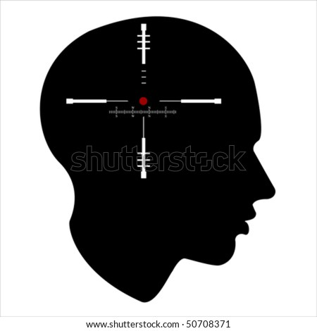 target of the human mind,  Isolated over background and groups, vector ILLUSTRATION - stock vector