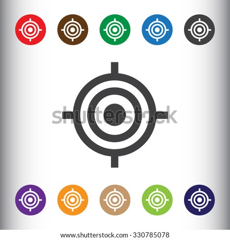 Target sign icon, vector illustration. Target symbol. Flat icon. Flat design style for web and mobile. - stock vector