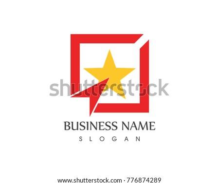 Target Star Logo Design Template Stock Vector 776874289 Shutterstock