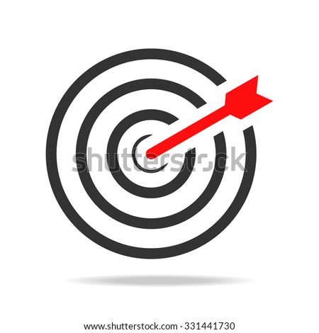 Target Success icon - stock vector