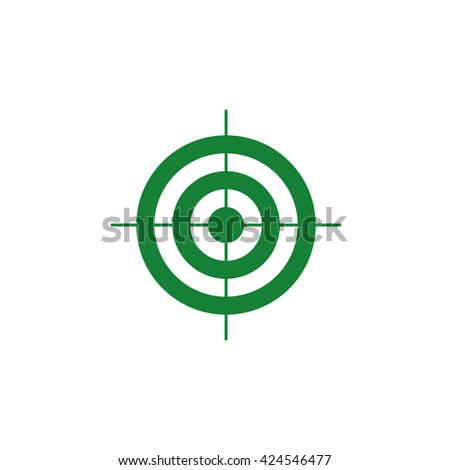 Target symbol. Vector icon green