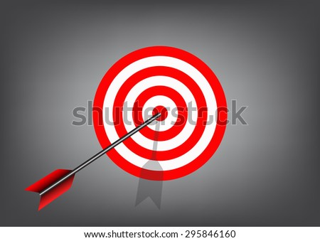 Target to success for finance and business concept,vector illustration