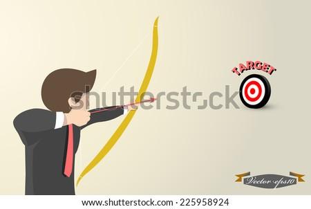 target vector - stock vector