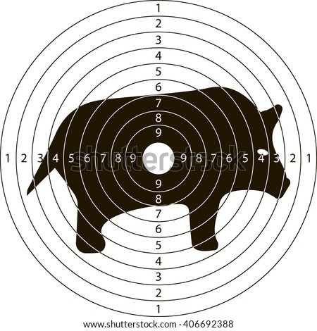 target wild boar for the shooting range small arms made in the vector