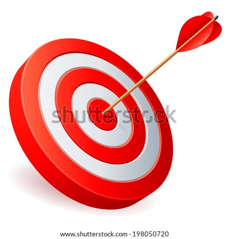 Target with arrow.