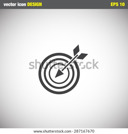 target with arrow vector icon