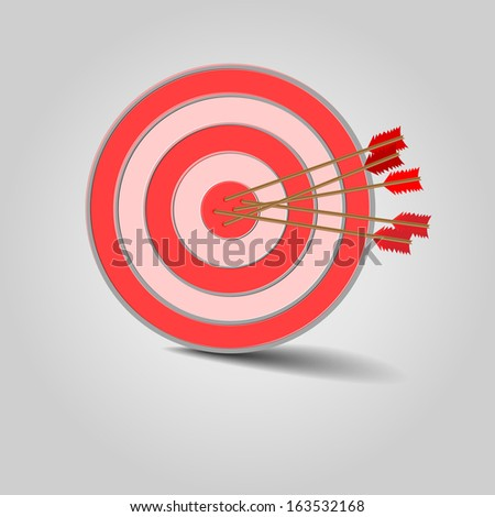Target with arrows - stock vector