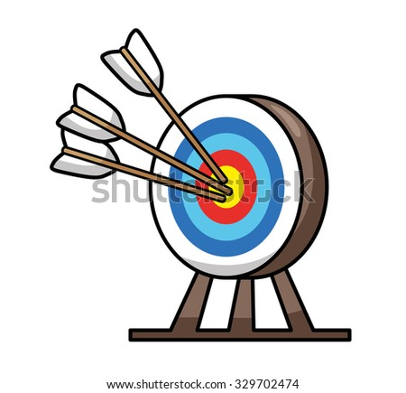Target with arrows icon. - stock vector