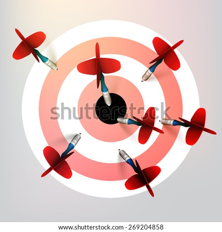 Target with arrows - vector illustration  - stock vector