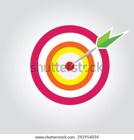 target with dart and arrow,isolated, concept of goal - stock vector