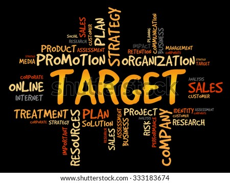 TARGET word cloud, business concept