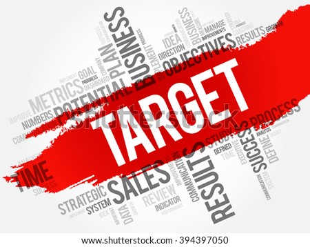 Target word cloud, business concept - stock vector