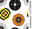 targets for practical pistol shooting, seamless wallpaper, vector illustration - stock photo