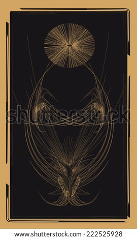 Tarot cards - back design, birds - stock vector