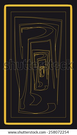 Tarot cards - back design, Doors - stock vector