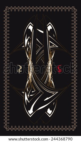 Tarot cards - back design. Lilith, Selena - stock vector