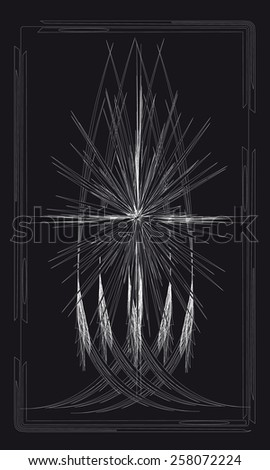 Tarot cards - back design. Star Antares - stock vector
