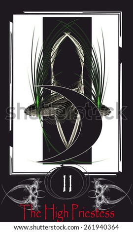 Tarot cards. Major Arcana. The High Priestess - stock vector