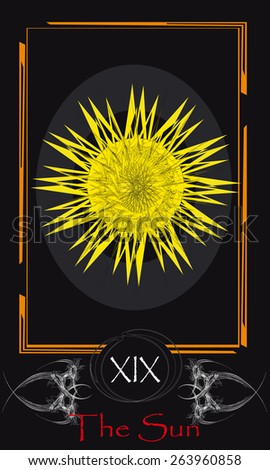 Tarot cards. Major Arcana. The Sun - stock vector
