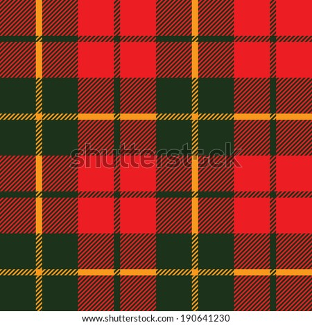 tartan fabric texture in a square pattern seamless; vector ilustration - stock vector