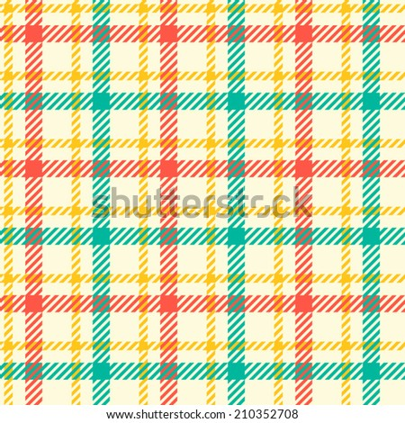 tartan pattern. gentle colors of red, blue, yellow. suitable for decoration of children's clothes. - stock vector