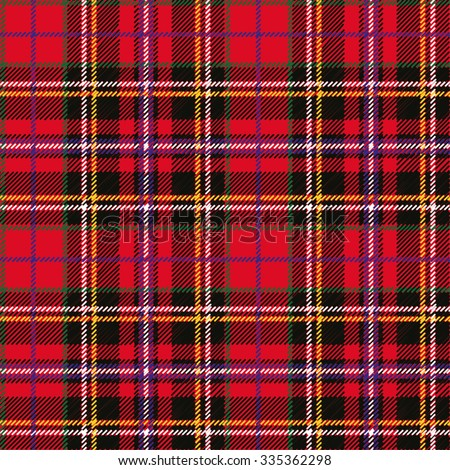 Tartan, plaid Seamless pattern. Wallpaper,wrapping paper,textile.Retro style.Fashion illustration,vector,background.Christmas,new year  decor.Traditional red,black,green green scottish ornament - stock vector