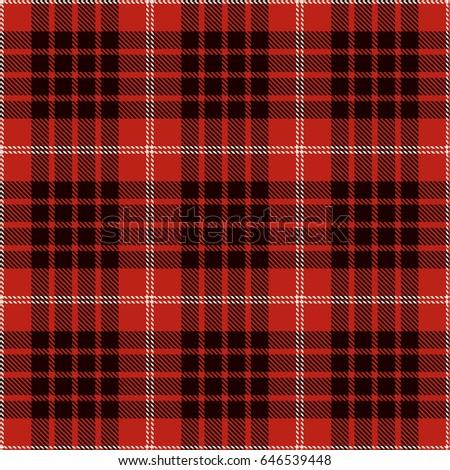 flannel pattern seamless vector illustration stock vector