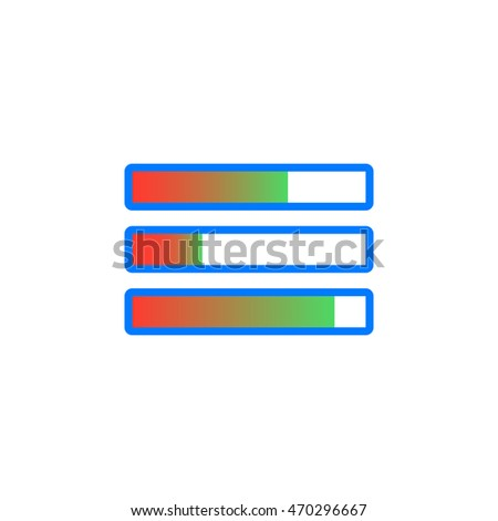 Task bars icon vector, solid logo illustration, pictogram isolated on white, colorful pictogram isolated on white