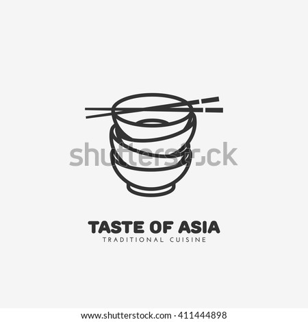Taste of Asia logo template design. Vector illustration.