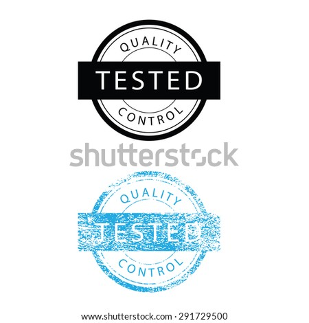 Tasted quality control stmap grunge vector - stock vector