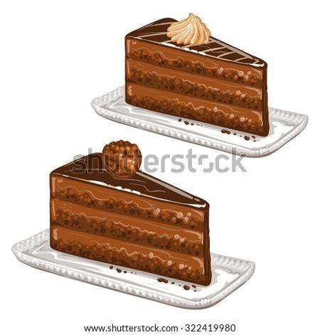 Tasty cakes - stock vector