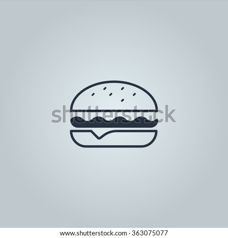 Tasty hamburger with meat and cheese